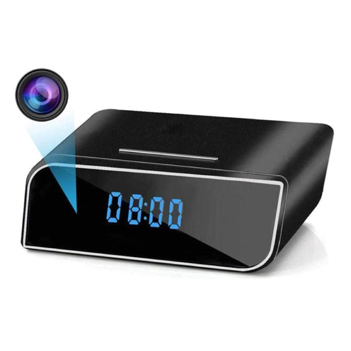 Réveil avec caméra et WiFi - Vision nocturne de sécurité pour la maison intelligente sans fil