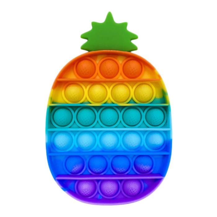 Pop It - Fidget Anti Stress Toy Bubble Toy Silicone Pineapple Rainbow