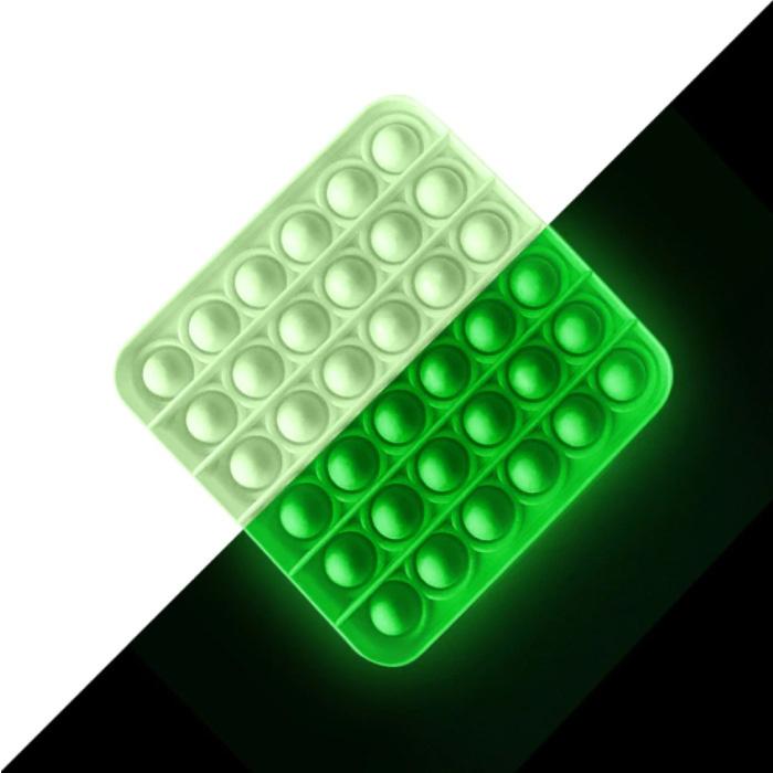 Pop It - Fidget Anti Stress Toy Bubble Toy Silicone Square Luminous