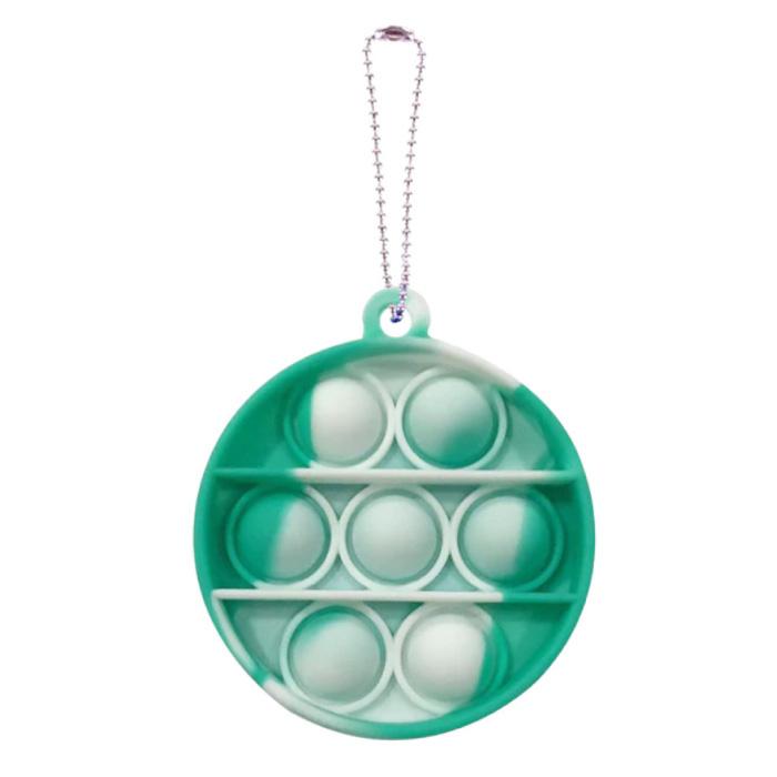 Pop It - Fidget Anti Stress Speelgoed Bubble Toy Siliconen Rondje Groen-Wit