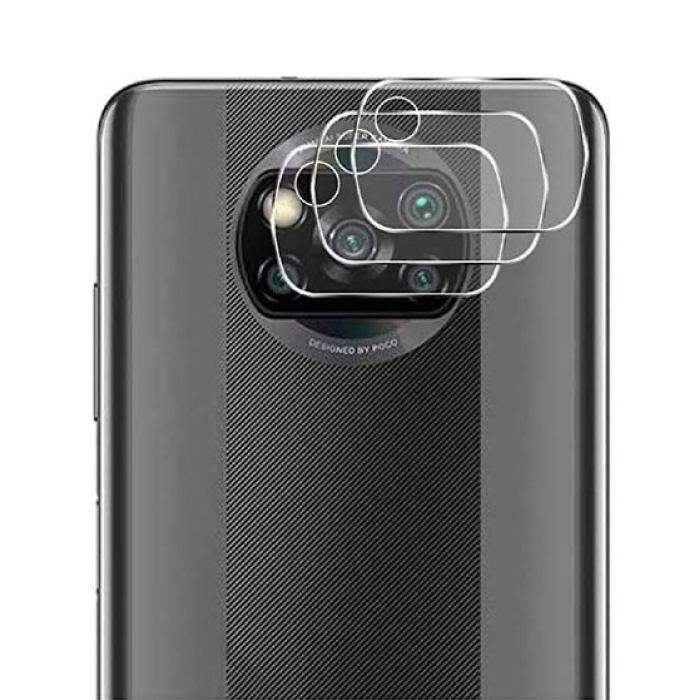 Lot de 3 couvercles d'objectif en verre trempé pour appareil photo Xiaomi Poco X3 Pro - Protection de l'étui en film antichoc