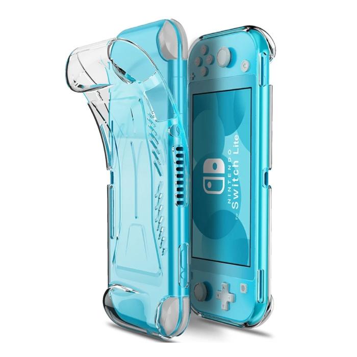 Beschermhoes voor Nintendo Switch Lite - Transparant Antislip TPU Hoesje Case Cover  Anti-fingerprint Controller