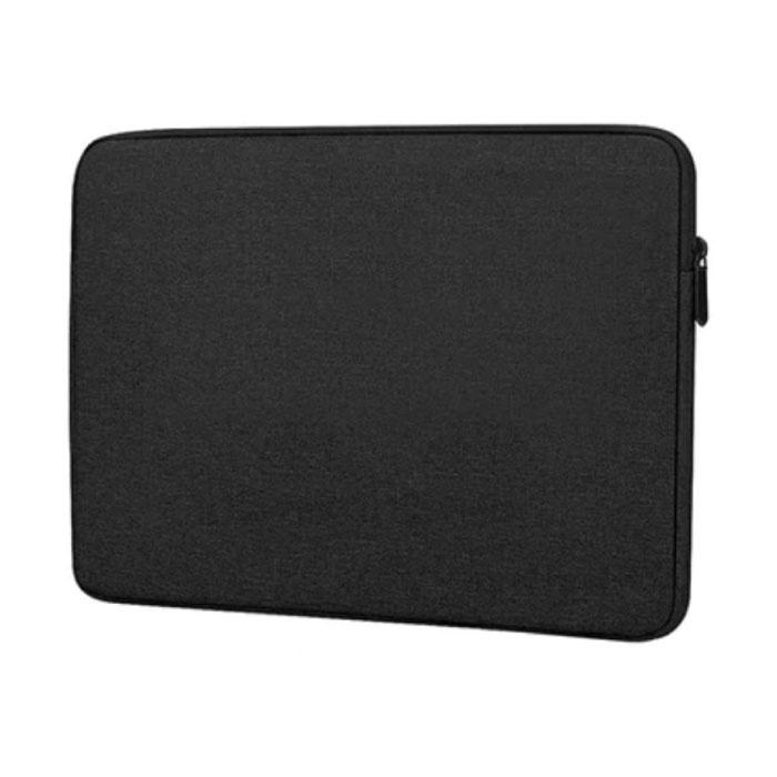 Laptop Sleeve voor Macbook Air Pro - 15.4 inch - Draagtas Case Cover Zwart