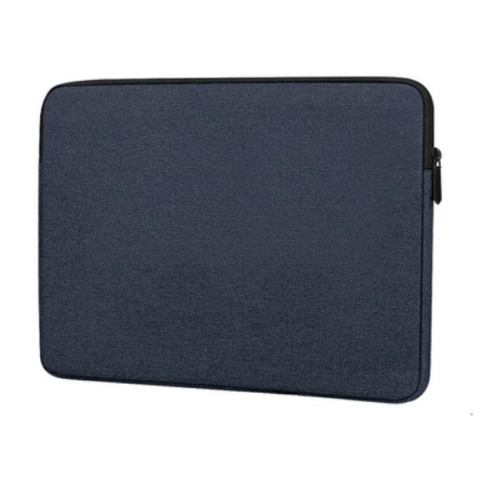 Laptop Sleeve voor Macbook Air Pro - 15.4 inch - Draagtas Case Cover Blauw