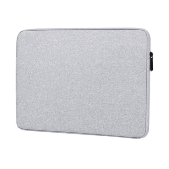 Housse pour ordinateur portable pour Macbook Air Pro - 15,6 pouces - Housse de transport blanc