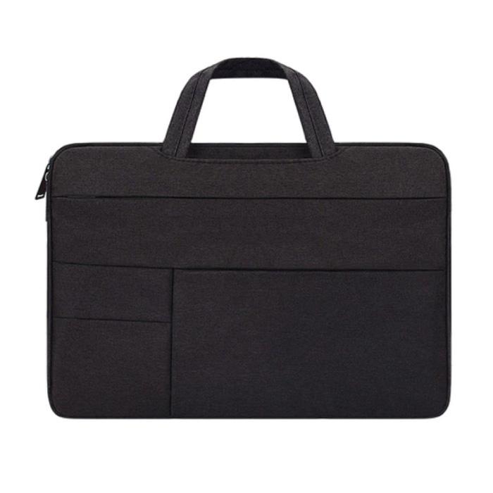 Draagtas voor Macbook Air Pro - 15.6 inch - Laptop Sleeve Case Cover Zwart