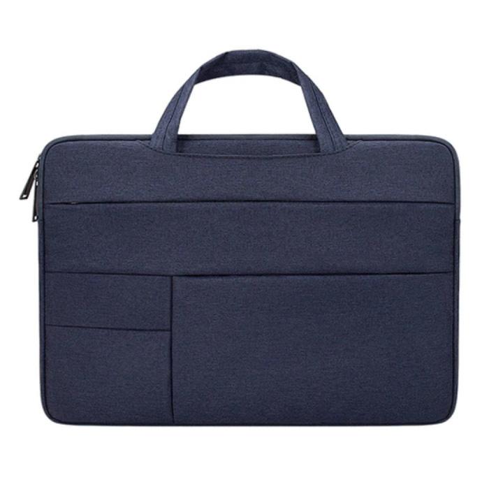 Housse de transport pour Macbook Air Pro - 15,6 pouces - Housse pour ordinateur portable Housse Bleu