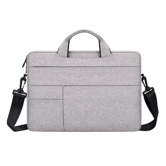Draagtas met Riem voor Macbook Air Pro - 15.6 inch - Laptop Sleeve Case Cover Wit