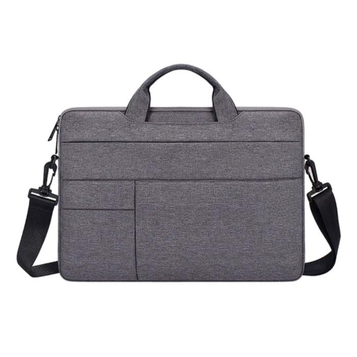 Draagtas met Riem voor Macbook Air Pro - 15.6 inch - Laptop Sleeve Case Cover Grijs
