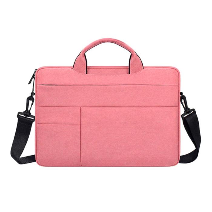 Draagtas met Riem voor Macbook Air Pro - 15.6 inch - Laptop Sleeve Case Cover Roze