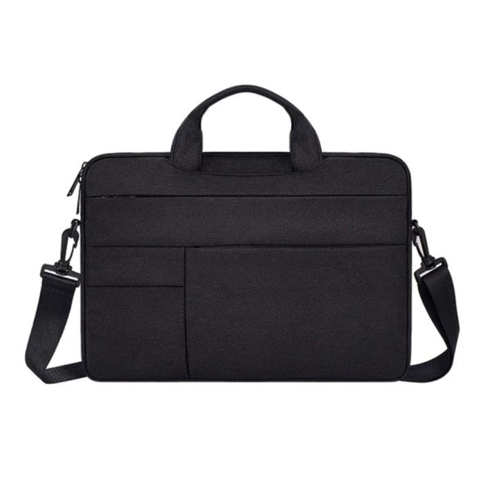 Draagtas met Riem voor Macbook Air Pro - 15.6 inch - Laptop Sleeve Case Cover Zwart