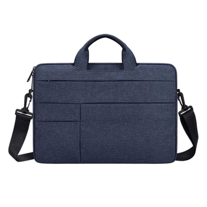 Draagtas met Riem voor Macbook Air Pro - 15 inch - Laptop Sleeve Case Cover Blauw