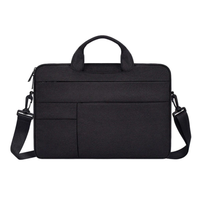 Carrying Case with Strap for Macbook Air Pro - 15 inch - Laptop Sleeve Case Cover Black