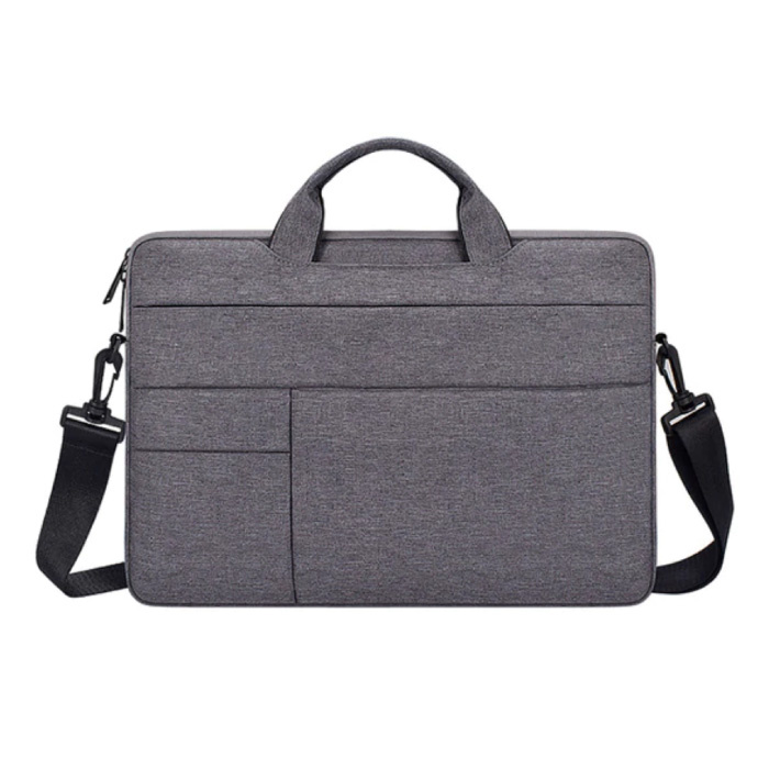 Carrying Case with Strap for Macbook Air Pro - 13 inch - Laptop Sleeve Case Cover Gray