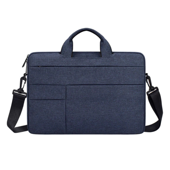 Draagtas met Riem voor Macbook Air Pro - 13 inch - Laptop Sleeve Case Cover Blauw