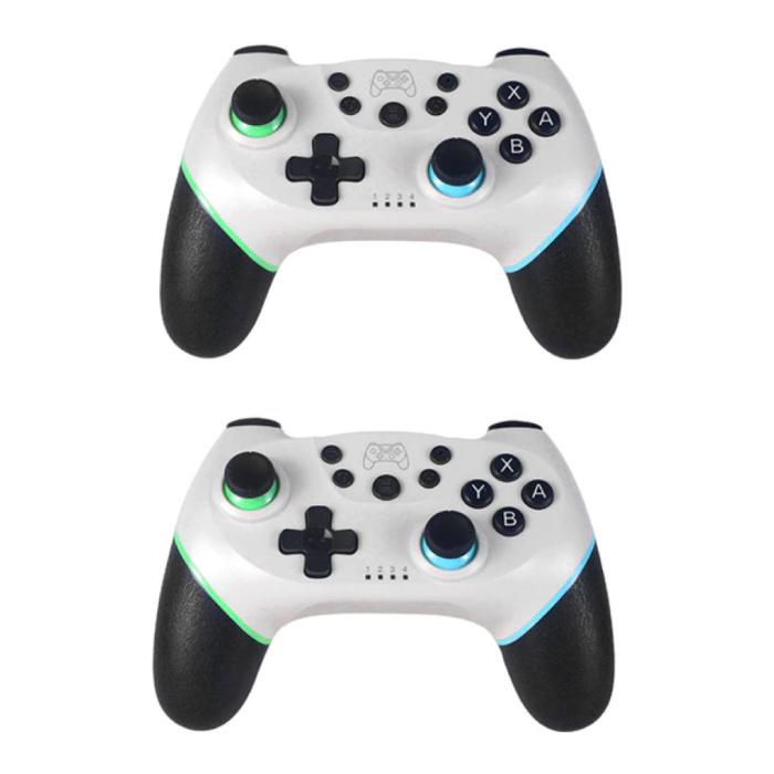 2er-Pack Gaming Controller für Nintendo Switch - NS Bluetooth Gamepad mit Vibration White