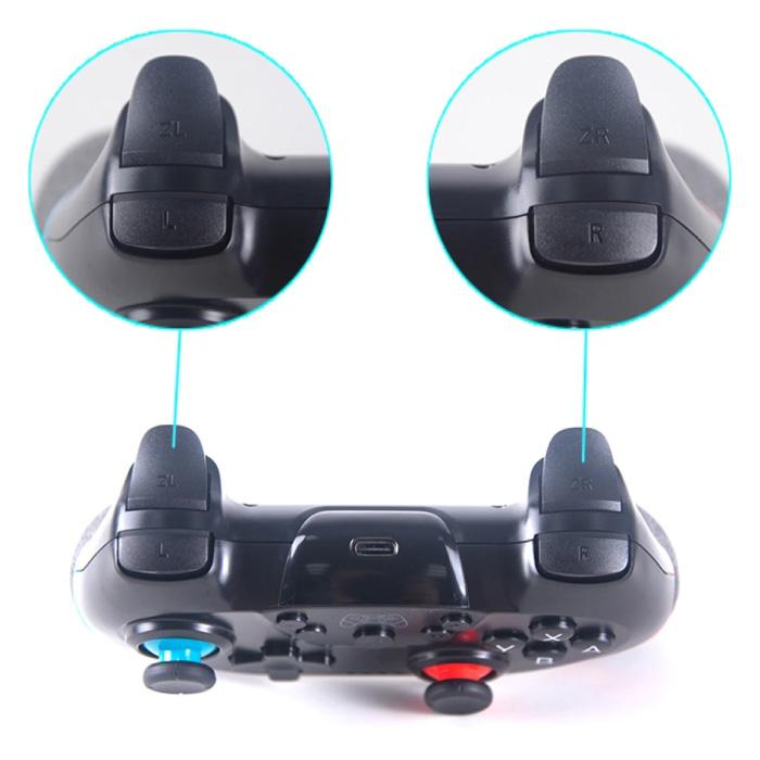 Stuff Certified® 2-Pack Gaming Controller voor Nintendo Switch - NS Bluetooth Gamepad met Vibratie Blauw