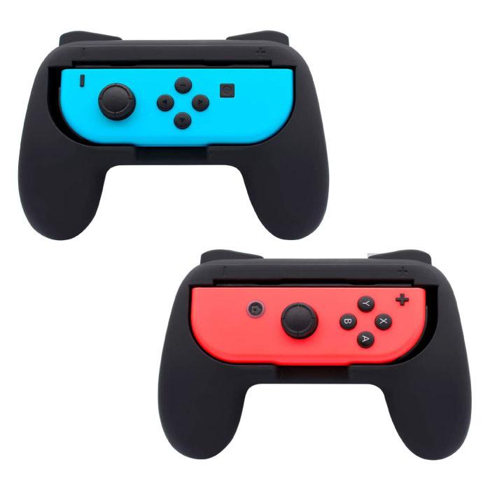 Paquet de 2 poignées de manette pour Nintendo Switch Joy-Cons - NS Gamepad Handgrip Handle Black