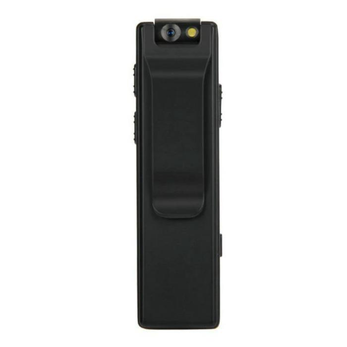 Mini caméra de sécurité avec éclairage d'appoint - Alarme de détection de mouvement de caméscope HD 1080p noir
