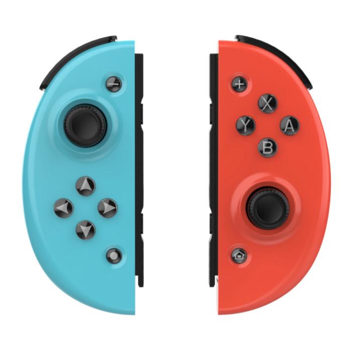 Gaming Controller voor Nintendo Switch - NS Bluetooth Gamepad Joy Pad met Vibratie Blauw-Rood