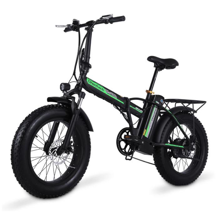 Foldable Electric Bicycle - Off-Road Smart E Bike - 500W - 15 Ah Battery - Black