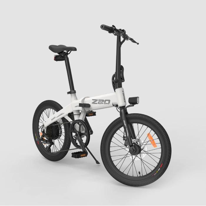 Vélo électrique pliable Z20 - Vélo tout-terrain intelligent E - 250W - Batterie 10 Ah - Blanc