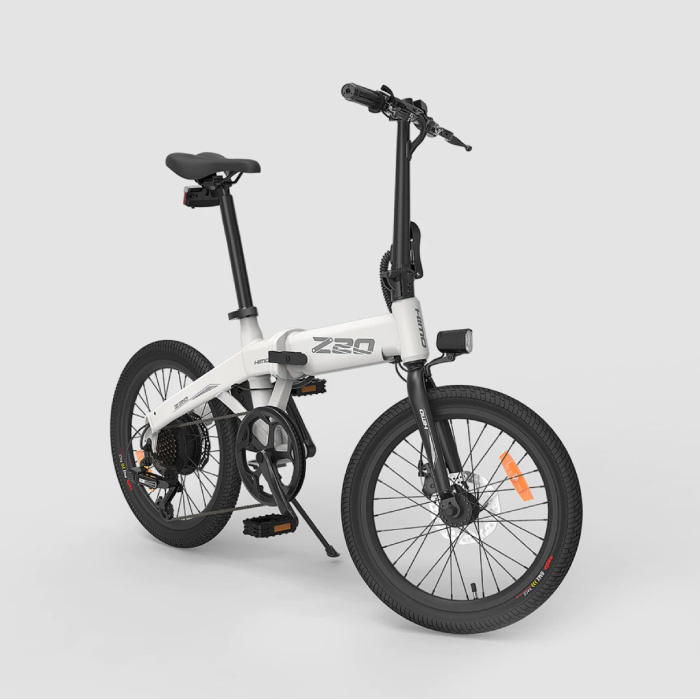 Z20 Foldable Electric Bicycle - Off-Road Smart E Bike - 250W - 10 Ah Battery - White