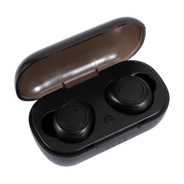 A2 Draadloze Oortjes - Touch Control Oordopjes TWS Bluetooth 5.0 Earphones Earbuds Oortelefoon Zwart