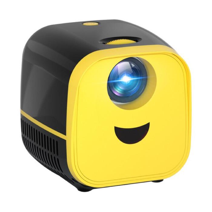 PK YG300 Mini LED Projector - Beamer Home Media Speler Theater Cinema Zwart
