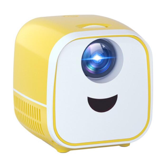 PK YG300 Mini-LED-Projektor - Beamer Home Media Player Theater Kino Weiß