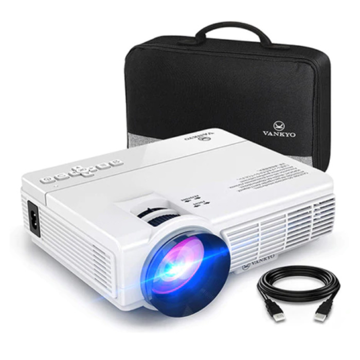Leisure C3MQ LED Projector - Beamer Home Media Speler Theater Cinema Wit