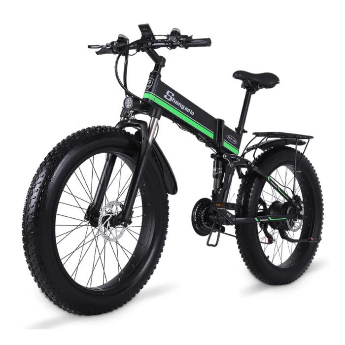 MX01 Foldable Electric Bicycle - Off-Road Smart E Bike - 500W - 12.8 Ah Battery - Green