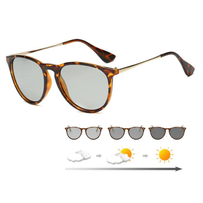 Sonnenbrille - UV400 und Polarisationsfilter für Männer und Frauen - Leopard