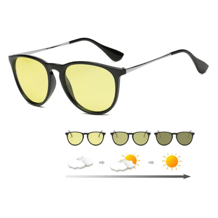 Lunettes de soleil et lunettes de nuit 2 en 1 - UV400 et filtre polarisant pour homme et femme - Noir
