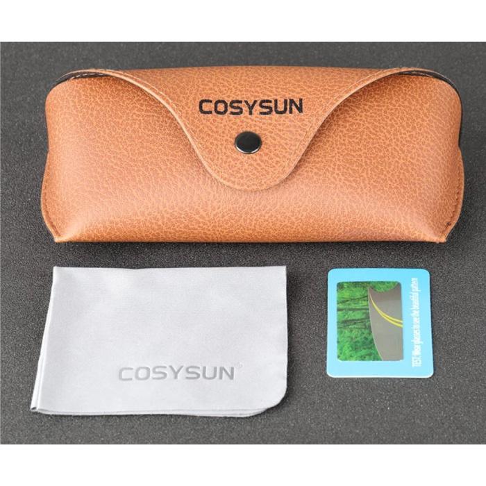 Cosysun 2 in 1 Sonnenbrille & Nachtbrille - UV400 und Polarisationsfilter für Männer und Frauen - Mattschwarz