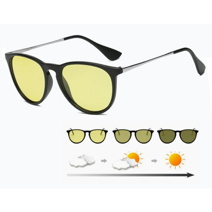 2 in 1 Sonnenbrille & Nachtbrille - UV400 und Polarisationsfilter für Männer und Frauen - Mattschwarz