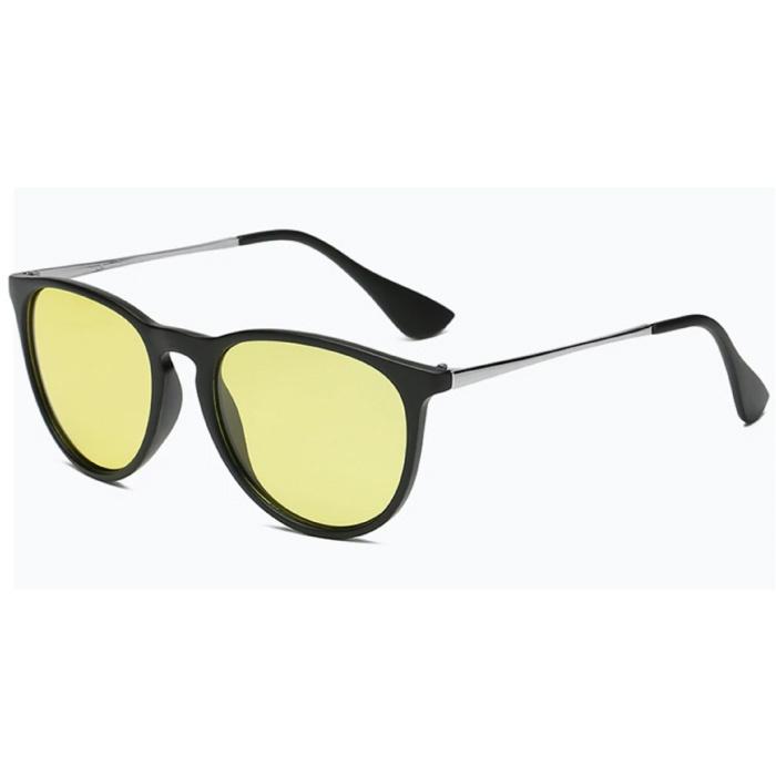 Cosysun 2 in 1 Zonnebril & Nachtbril - UV400 en Polarisatie Filter voor Mannen en Vrouwen - Matte Zwart