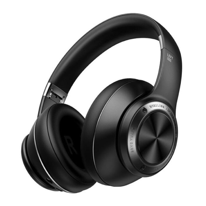 Casque de jeu sans fil avec microphone - Casque Bluetooth 5.0 Casque noir