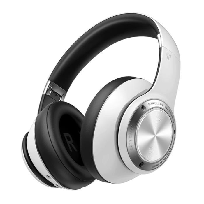 Casque de jeu sans fil avec microphone - Casque Bluetooth 5.0 Casque blanc