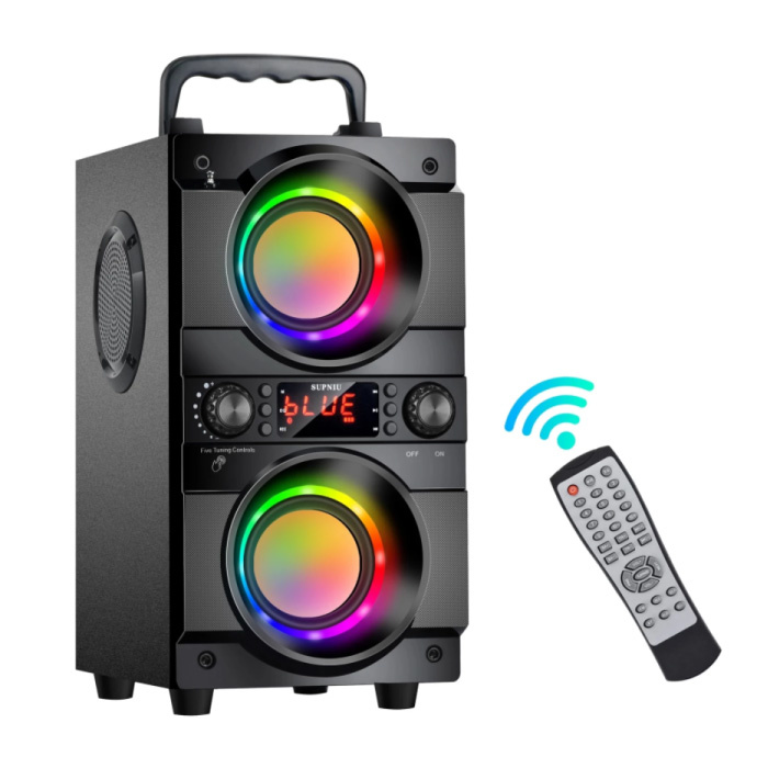 A21 Draadloze Speaker met RGB - 60W Luidspreker Wireless Bluetooth 5.0 Soundbar Box Zwart