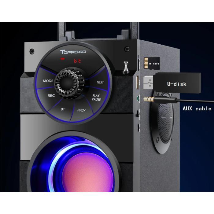 TOPROAD A100 Wireless Speaker - 16W Speaker Wireless Bluetooth 5.0 Soundbar Box Black
