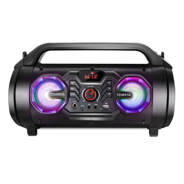 Haut-parleur sans fil T16 avec RGB - 30W Haut-parleur sans fil Bluetooth 5.0 Soundbar Box Gold