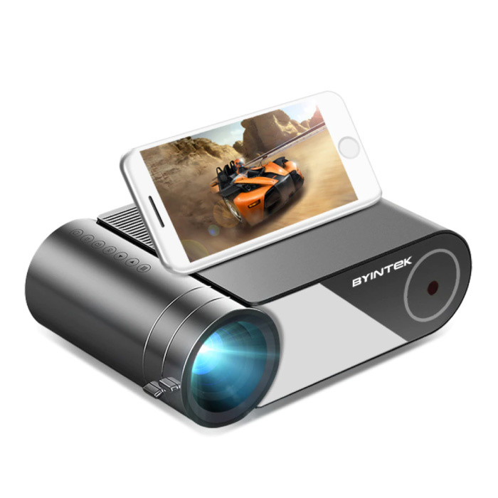 K9 Mini LED-Projektor mit Multiscreen-Unterstützung - Android OS Screen Mirroring Beamer Home Media Player