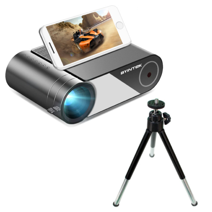 K9 Mini LED Projector with Multiscreen Support and Tripod - Android OS Screen Mirroring Beamer Home Media Player