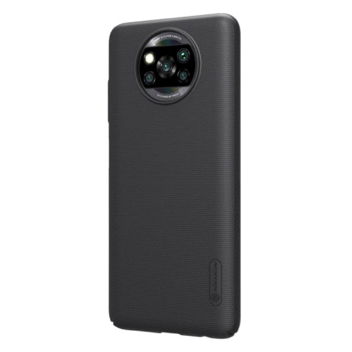 Xiaomi Poco X3 Pro Frosted Shield Hoesje - Shockproof Case Cover Cas Zwart