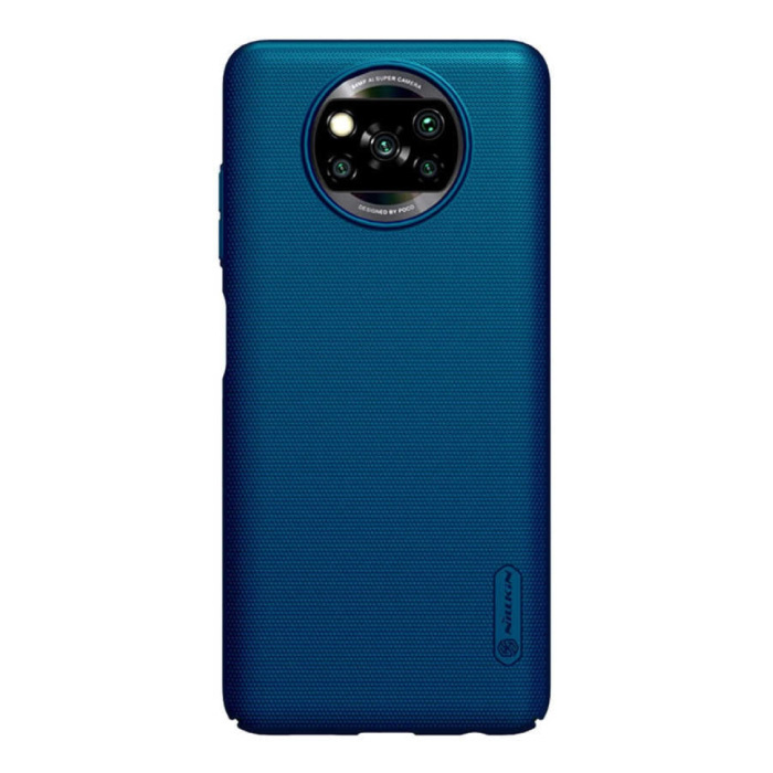 Xiaomi Poco X3 Pro Frosted Shield Hoesje - Shockproof Case Cover Cas Blauw