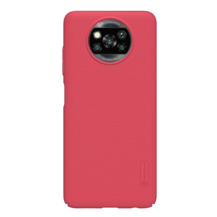 Xiaomi Poco X3 Pro Frosted Shield Hoesje - Shockproof Case Cover Cas Rood