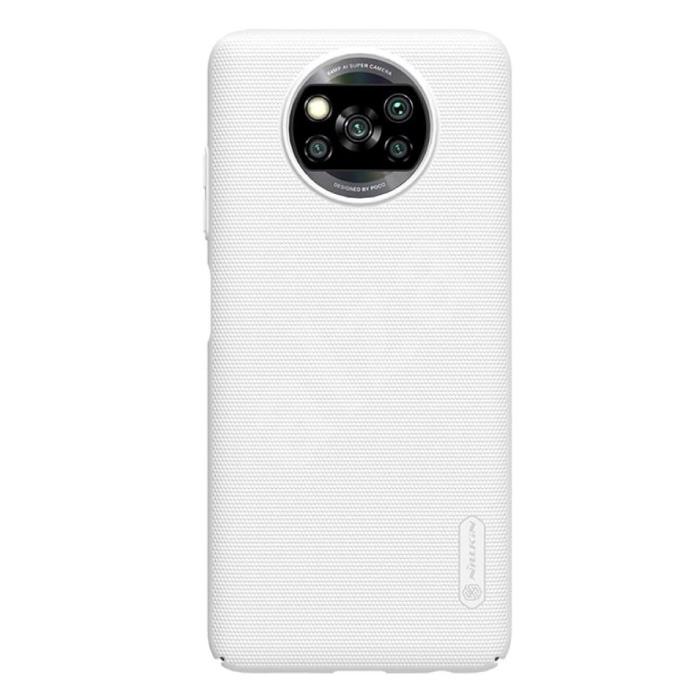 Xiaomi Poco X3 NFC Frosted Shield Case - Housse antichoc Cas Blanc