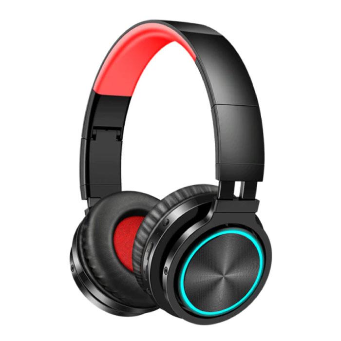 Casque sans fil - Casque de jeu à réduction de bruit Bluetooth 5.0 Rouge