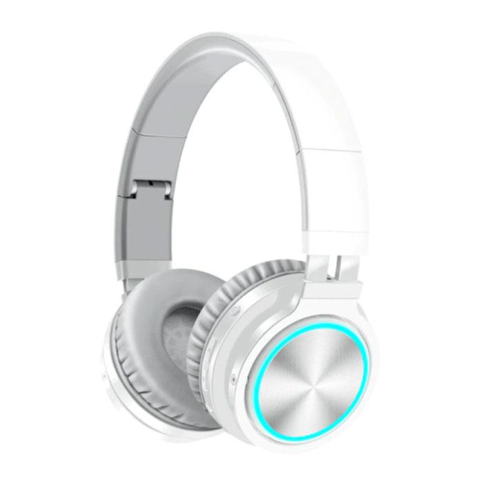 Casque sans fil - Casque de jeu à réduction de bruit Bluetooth 5.0 Blanc